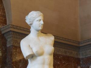 At the Louvre, the Venus de Milo