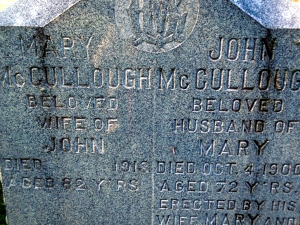 McCullough Family Tombstone