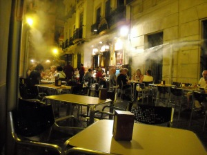 street café in Sevilla