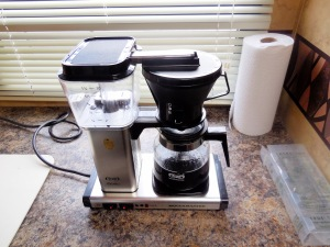 Fancy coffee maker we love (not appropriate for camping